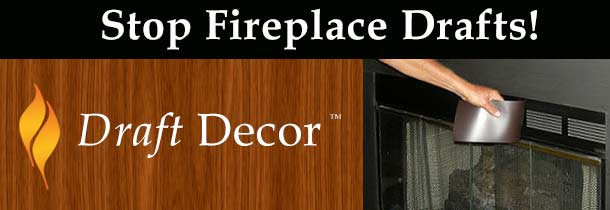 Stop fireplace drafts & guard your house against heat, humidity, bugs & critters entering though fireplace vents.
