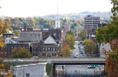 Skyline of Easton, Lehigh Valley, PA